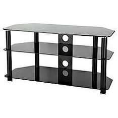 """S&C Black Glass TV Stand For TVs Up To 42"""" - £49.99 *Reserve & Collect* @ Sainsburys"""