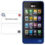 *PAY AS YOU GO* Save £15 On 02 - LG GD510 POP In Blue When Bought With £10 02 Top Up - £64.97 Delivered @ Tesco Direct