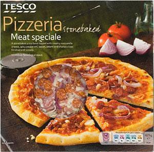 Tesco Pizzeria   Pizza (400g) Frozen. Half price 99p