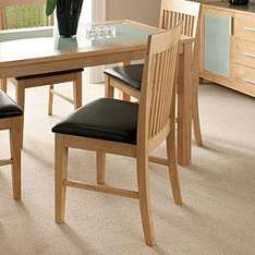 solid rubberwood Memphis Faux Suede Chair - Pair was £149 now £59 @asda