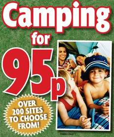 Camping For 95p Per Night @ The Daily Mirror