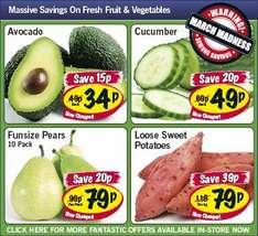 Lidl - Avocado 34p/ Cucumber 49p/ Funsize pears x10 79p/ Sweet potatoes 79p per kg