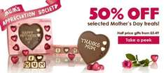 half price mother's day chocolates from £5.59 @ Thorntons
