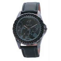 Kahuna Black Leather Ladies Strap Watch from Amazon £7.95 delivered
