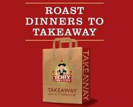 Takeaway roast dinner from £5.49 @ Toby Carvery