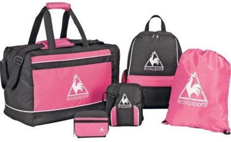 Le Coq Sportif 5 Piece Luggage Set In Black & Pink - £6.99 @ Argos