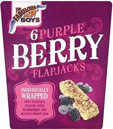 Individually Wrapped - The Fabulous Bakin' Boys Purple Berry or Red Berry Flapjack - 6 packs 70p at Tesco
