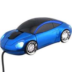 Racing Car Mouse In Blue with neon lights Optical USB  - £4.99 Delivered @ 7 Day Shop