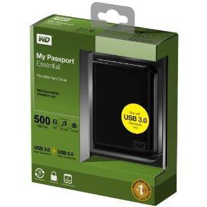 WD My Passport Essential 500 GB Midnight Black Portable Hard Drive (USB 3.0/2.0) - £49 Delivered @ Amazon