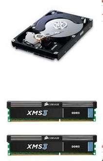 1TB Samsung HD103SJ Spinpoint F3 Hard Drive + 4GB (2x2GB) Corsair XMS3 Classic DDR3 PC3-12800 Memory - £68.39 @ Scan *TODAY ONLY*