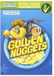 Nestle Golden Nuggets (375g) £1.50, Nestle Nesquik Cereal (375g) £1.50 & Kellogg's Crunchy Nut Clusters with Honey & Nut (500g) £2 at Tesco