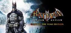 Batman: Arkham Asylum: GOTY Edition For PC - £3.75 @ Steam