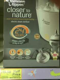 Tommee Tippee Closer To Nature Electronic Steam Steriliser - £19.50 *Instore* @ Tesco