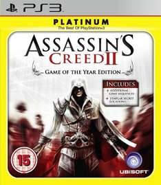 Assassins Creed II: Game of The Year - Platinum Edition For PS3 - £9.99 Delivered @ Amazon