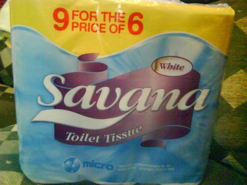 9 Rolls of Savana Toilet Tissue - £1.29 *Instore* @ Cooltrader