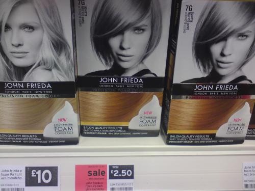 John Frieda Foam Colour Dark Golden Blonde 7G - Reduced To £2.50 Instore @ Sainsburys