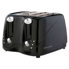 Russell Hobbs 14340 4-Slice Toaster in Black Plastic with Variable Browning and Frozen, Cancel and Reheat Functions £15 at Amazon