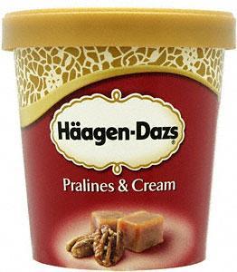 Häagen-Dazs Chocolate, Praline and Caramel flavour  500ml £1.04 at Sainsburys