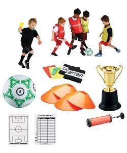 International Tournament Set  Incl. Size 5 football & pump, Bibs, 2 Armbands, 4 training cones ....& more) - was £14.99 Now £4.99 @ Argos