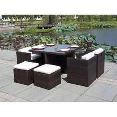 Rattan Cube Garden Conservatory Furniture Set - Was £899 Now £569 Delivered @ Amazon Sold By  Sleep Tight Memory Foam