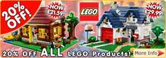 20% off All Lego Products @ Mail Order Express