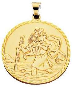 9ct Gold St Christopher Pendant WAS £179.99 NOW £59.99 @ ARGOS