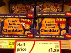 I Can't Believe It's Not Chedder HALF PRICE - £1.89 (350g) @ Morrisons