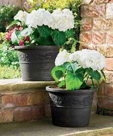 Twin Pack Terracotta or Anthracite Planters £8.99 delivered @ Argos