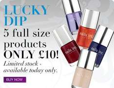 £10 Lucky Dip - 5 Full Sized Nail Varnishes (One Is A Full Size Chelsea Bridge UV Top & Base Coat) - £13.95 Delivered @ Nails Inc