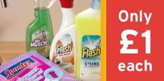 Save 1/3 on Selected Cleaning Materials @ Sainsburys eg. all £1 - Flash Spray With Bleach 500ml, Flash All Purpose Liquid Lemon 1 litre, Marigold Kitchen Medium, Spontex Hygienic APC 8-pack, Mr Muscle Window
