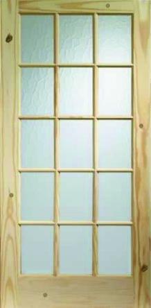 15 panel Glazed Knotty Pine Internal Door 1981mm x 686mm x 35mm - £12 @ Kaybee Doors