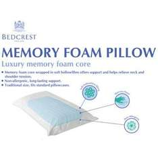 Bedcrest Traditional Memory Foam Pillow @ TJ Hughes RRP £59.99 £7.99