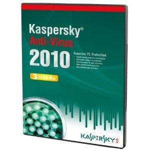Kaspersky Anti-Virus 3 User, 1 Year License, 2010 (PC CD) - 9.99 @ amazon