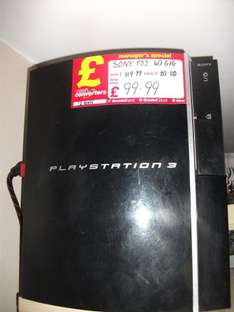 Playstation 3 Console: 40GB - £99.99 *Instore* @ Cash Convertors