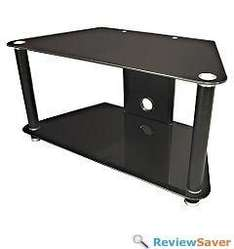 """Two-Tier Stand For Upto 37"""" TVs - Black Glass - £24.99 @ Sainsburys (Instore)"""