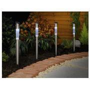 Stainless Steel Solar Stick Marker 50cm - 4pk / Colour Changing Bubble Solar Stick Lights - 8pk / Black Solar Marker - 12pk - £15 Each @ Tesco Direct