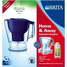 Brita Aluna water filter including 3 filters and free 'wottle' bottle Instore only @ The Range