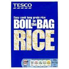 Tesco Boil in the Bag rice 4 x 125 g (500g) just 47p instore and online
