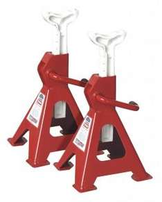 Sealey Axle Stands 2ton Capacity Per Stand - 4ton Per Pair GS/TUV Ratchet - £20.96 + £4.95 Postage @ Tool Shop Direct