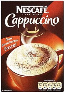 Nescafe Café Menu Cappuccino Mug Size Servings (10 per pack - 187g) only £1.25 @ Iceland