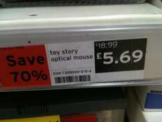 70% off!! Toy Story Optical Mouse - £5.69 *Instore* @ Sainsburys