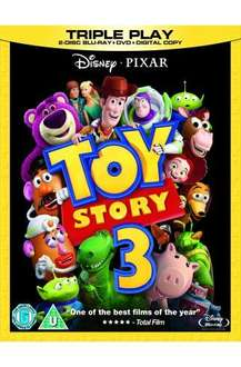 Toy Story 3 Blu-ray Triple Play (With Play.com Exclusive Artwork) (2 Disc Blu-ray + DVD + Digital Copy) - £9.99 @ Play