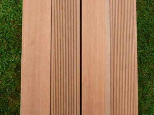 Reversible Red Hardwood Deck Board 2.35M - £5 Each @ B&Q