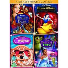 4 x Disney DVD's: Cinderella / The Princess and The Frog / Beauty and The Beast / Snow White - £29.20 Delivered @ Amazon