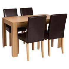 Tilson Table & 4 Milton chairs, brown £189 delivered @ Tesco Direct