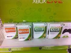 Xbox Live 4200 Points Card - £15.29 *Instore* @ PC World