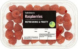 Sainsburys; rasberries 2 for £3