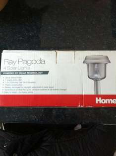 Ray Pagoda Pack of 4 Solar Garden Lights - Scanning at £1 @ B&Q (Instore)