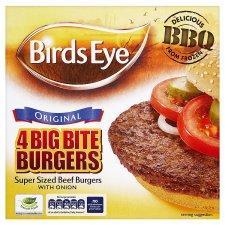 Birds Eye 4 Big Bite Burgers 568g - Half Price - £1.74 at Tesco