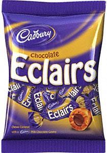 Cadbury Chocolate Eclairs (200g), Maynards Wine Gums (215g), Bassett's Liquorice Allsorts (215g), Bassett's Jelly Babies (215g) all 74p at Sainsburys